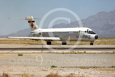 C-9USAF 00005 Douglas C-9B Nightingale USAF 10961 Nellis AFB June 1980 by Peter J Mancus
