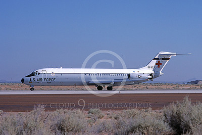 C-9USAF 00039 A taxing Douglas C-9 Nightingale USAF 88933 Edwards AFB 8-1983 airplane picture by Michael Grove, Sr