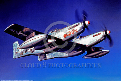 F-82 00004 Betty Joe, a flying USAF North American F-82 Twin Mustang, PQ-168, military airplane picture, Official USAF Picture       DONEwt