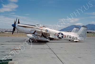 F-82 00001 A static USAF North American P-82E Twin Mustang, FQ-275, Concord,CA 28 May 1949, military airplane picture, by W T Larkins