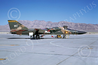 F-111USAF 00019 General Dynamics F-111 Aardvark USAF 66048 Nellis AFB 19 May 1969 by Peter B Lewis