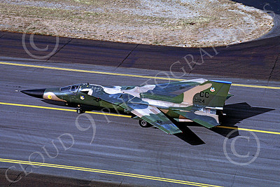 F-111USAF 00013 General Dynamics F-111 USAF 68124 Hill AFB Oct 1981 by Carl E Porter