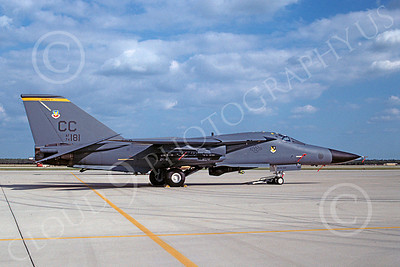 F-111USAF 00021 General Dynamics F-111 Aardvark USAF 74181 29 May 1994 via African Aviation Slide Service