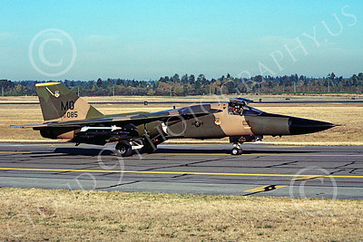 F-111USAF 00017 General Dynamics F-111 USAF 67085 McChord AFB Dec 1987 by Peter J Mancus