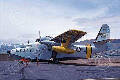 HU-16USAF 00003 A static Grumman HU-16E Albatross USAF 515303 5-1985 military airplane picture by James Twitchell