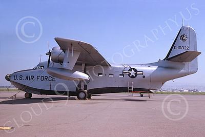 HU-16USAF 00005 A static Grumman HU-16E Albatross USAF 1985 military airplane picture by Duane A Kasulka