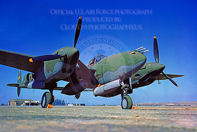 P-38 00001 A static olive drab US Army Air Corps Lockheed P-38 Lightning WWII era fighter, military airplane picture, Official USAF Picture