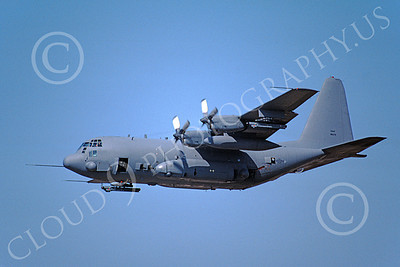 AC-130USAF 00026 A flying Lockheed AC-130H Spectre USAF 10-1985 military airplane picture by Michael Grove, Sr