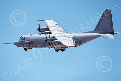 AC-130USAF 00020 A landing Lockheed AC-130 Spectre USAF 96569 8-2000 military airplane picture by Michael Grove, Sr