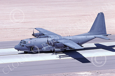 AC-130USAF 00033 A taxing Lockheed AC-130H Spectre USAF 696577 4-2001 military airplane picture by Benjamine Knowles, Jr
