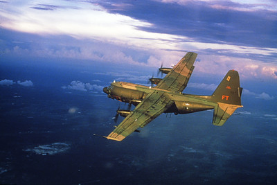 AC-130USAF 00022 A flying Lockheed AC-130 Spectre USAF FT code Official USAF Photo