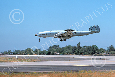 C-121USAF 00020 A landing Lockheed C-121 Constellation USAF 50118 McClellan AFB 12-1975 military airplane picture by Michael Grove, Sr