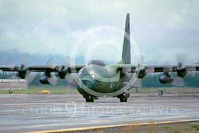 C-130USAF 00103 Lockheed HC-130P Hercules USAF 0986 Elmendorf AFB August 1984 by Peter J Mancus