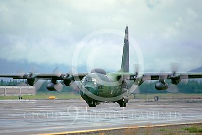 C-130USAF 00025 Lockheed HC-130P Hercules USAF 0986 Elmendorf AFB August 1984 by Peter J Mancus
