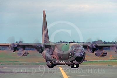 C-130USAF 00027 Lockheed C-130 Hercules USAF 7818 Elmendorf AFB August 1984 by Peter J Mancus