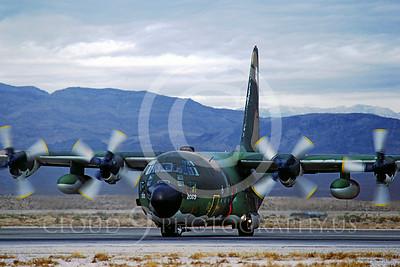 C-130USAF 00049 Lockheed C-130 Hercules USAF November 1981 Nellis AFB by Peter J Mancus