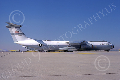 C-141BUSAF 00003 A static USAF Lockheed C-141B Starlifter 60185 Edwards AFB 11-1979 military airplane picture by Michael Grove, Sr