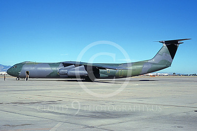 C-141BUSAF 00027 A static Lockheed C-141B Starlifter USAF 40645 NAF Moffett 6-1981 military airplane picture by Michael Grove, Sr
