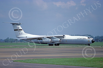 C-141BUSAF 00007 A taxing USAF Lockheed C-141B StarLifter 60202 6-1983 military airplane picture by Michael Grove, Sr