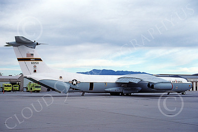 C-141BUSAF 00005 A static USAF Lockheed C-141B StarLifter 60150 Thunderbirds Nellis AFB 11-1987 military airplane picture by Michael Grove, Sr