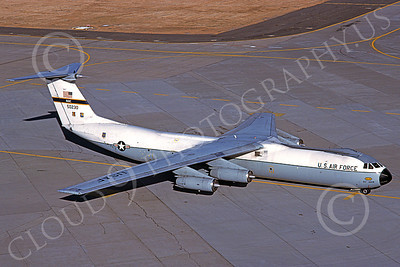 C-141BUSAF 00017 A taxing Lockheed C-141B StarLifter USAF 50230 Beale AFB 6-1984 military airplane picture by Michael Grove, Sr