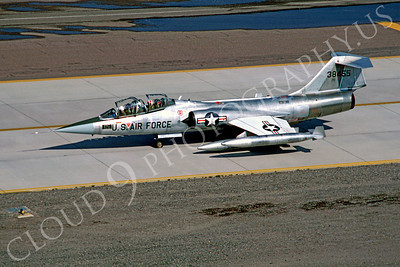 F-104USAF 00043 Lockheed F-104 Starfighter USAF 38455 Luke AFB March 1982 by Peter J Mancus