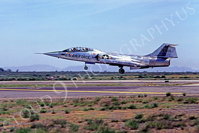 F-104USAF 00036 Lockheed F-104 Starfighter USAF 38455 Luke AFB April 1980 by Peter J Mancus