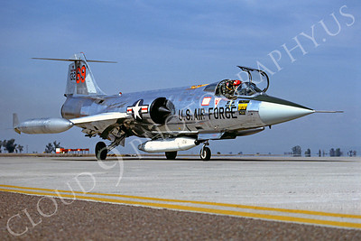 F-104USAF 00021 Lockheed F-104 Starfighter USAF 13269 Luke AFB Fightingn 69th Squadron April 1982 by Peter B Lewis