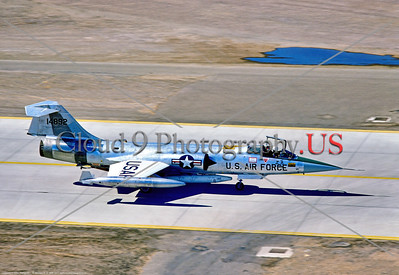 F-104-USAF:GAF 001 A taxing Lockheed F-104G Starfighter, USAF-Gerrman Air Force jet fighter, 14892, 58 TTW, 9-1977, Luke AFB, military airplane picture by Stephen W  D  Wolf      DDD_3935     Dt