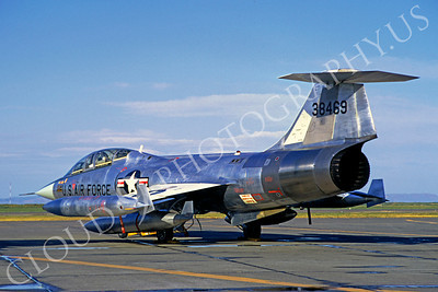 F-104USAF 00039 Lockheed F-104 Starfighter USAF 38469 Hamilton AFB June 1971 by Peter J Mancus