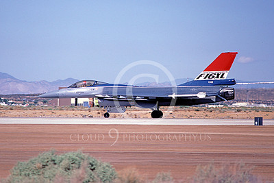 F-16XLUSAF 00003 A taxing Lockheed Martin F-16XL Fighting Falcon USAF Edwards AFB 10-1982 airplane picture by Michael Grove, Sr