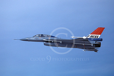 F-16XLUSAF 00008 A flying Lockheed Martin F-16XL Fighting Falcon USAF 12-1982 airplane picture by Michael Grove, Sr