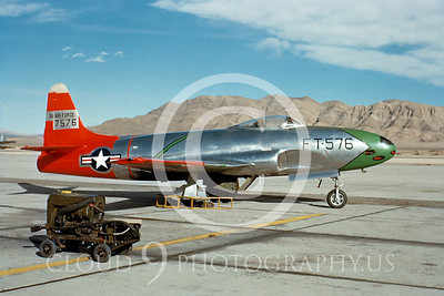 P-80USAF 00001 Lockheed P-80C Shooting Star Nellis AFB 26 March 1950 by William T Larkins