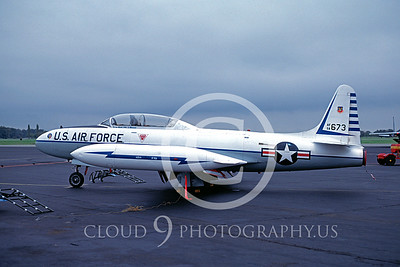 T-33USAF 00023 Lockheed T-33 Shooting Star 48th FIS 21 Oct 1982 by S W D Wolf