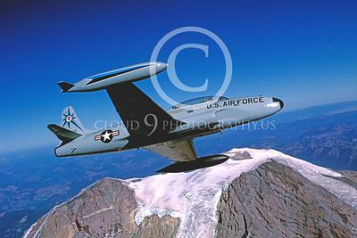 T-33USAF 00034 Lockheed T-33 Shooting Star USAF 318th FIS by Peter J Mancus