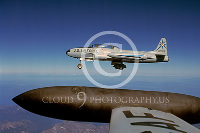 T-33USAF 00016 Lockheed T-33 Shooting Star USAF 318th FIS Oct 1987 by Peter J Mancus