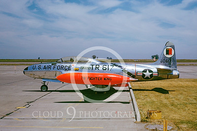T-33USAF 00025 Lockheed T-33 Shooting Star USAF May 1963 by William T Larkins