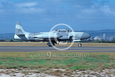 T-33USAF 00033 Lockheed T-33 Shooting Star USAF Feb 1987 Hickam AFB by Peter J Mancus