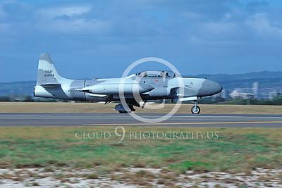 T-33USAF 00033 Lockheed T-33 Shooting Star USAF Feb 1987 Hickam AFB by Peter J Mancus