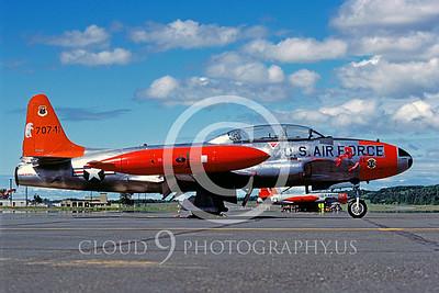 T-33USAF 00021 Lockheed T-33 Shooting Star USAF Aug 1984 Elmendorf AFB by Peter J Mancus