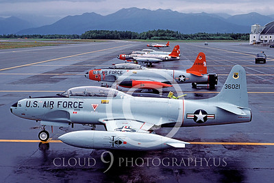 T-33USAF 00019 Lockheed T-33 Shooting Star USAF Aug 1984 Elmendorf AFB by Peter J Mancus