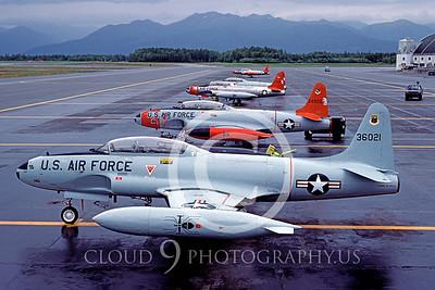 T-33USAF 00019 Lockheed T-33 Shooting Star USAF Aug 1984 Elmendorf AFB by Peter J Mancus