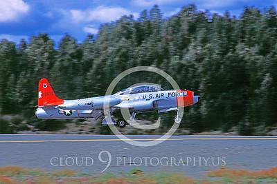 T-33USAF 00012 Lockheed T-33 Shooting Star USAF Aug 1984 Elmendorf AFB by Peter J Mancus