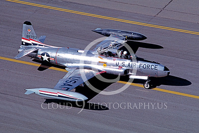 T-33USAF 00031 Lockheed T-33 Shooting Star USAF 84th FIS Hill AFB 1981 by Carl E Porter