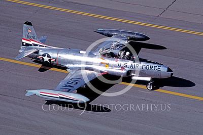 T-33USAF 00031 Lockheed T-33 Shooting Star USAF 84th FIS Hill AFB 1981 by Carl E Porter
