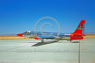 DG-U-2USAF 0001 A taxing bare metal with day-glow Lockheed U-2 Dragon Lady recon spy plane USAF 66701 Edwards AFB 5-1961 military airplane picture by Clay Jansson     DONEwt copy