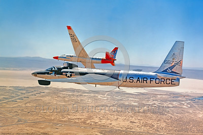 U-2 004 A Lockheed U-2 Dragon Lady recon spy plane USAF 66722 flying with another U-2, military airplane picture via Lockheed Aircraft Co, produced by Cloud 9 Photography     DONEwt copy