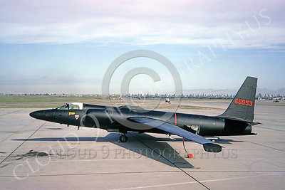 U-2 00001 Lockheed U-2 Dragon Lady USAF 66953 Davis-Monthan AFB 21 March 1966 by Clay Janson