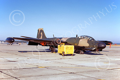 B-57USAF 00025 A static brown-black USAF Martin B-57G Canberra 533906 12 Dec 1969, by Jack D Morris