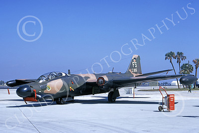 B-57USAF 00031 A static brown-black USAF Martin B-57G Canberra 533906 4424 CCTS FS code MacDill AFB 3-1972 by L B Sides